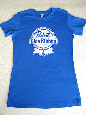 NEW PABST BLUE RIBBON BEER TEE T-SHIRT Medium M  100% Cotton ~ Life is Good soft