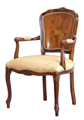 Inlaid classic armchair Melody made in Italy