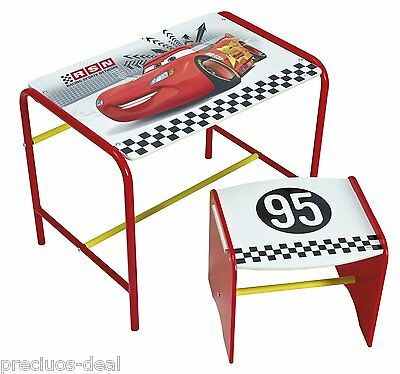 Disney Cars Speed Circuit Cosy Time Practical Kids Doodle Desk & Stool Red