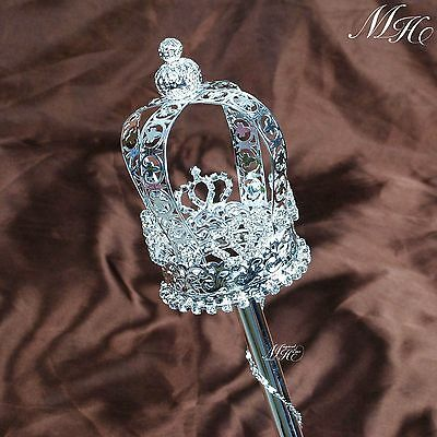 """19/"""" Royal Medieval King Queen Scepter Red Staff Wand Costume Accessory 3#"""