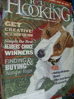 Rug Hooking Magazine June/July/August 2002 Primitive Angel Free Pattern/Instruct