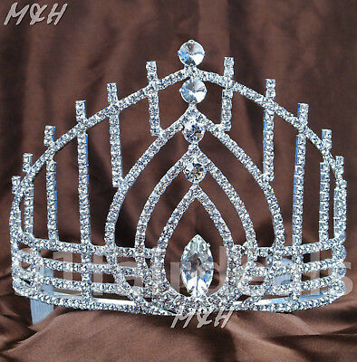 Water Drop Tiaras Hair Combs Clear Rhinestones Crown Wedding Beauty Pageant Prom