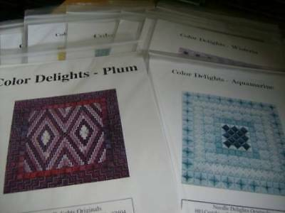 Color Delights Needlepoint, Canvaswork CHART Your Choice