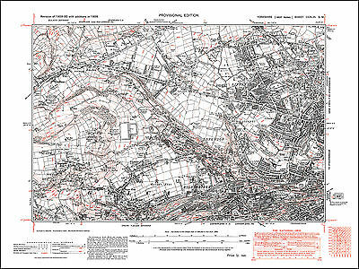 Huddersfield NW, Lindley, Longwood, old map Yorkshire 1938: 246SW repro