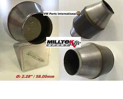 VW VR6 G60 R32 R MILLTEK Sport Hi Flow Sports Cat Weld In Ø: 2.28″ / 58.00mm