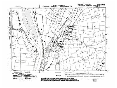 Monk Fryston Lumby South Milford old map Yorkshire 1908: 220SW repro
