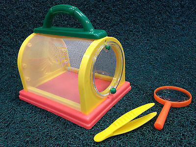 DeLuXe BUG BOX insect cage Magnifier with Tweezers NEW