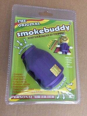 Smoke Buddy Original Personal Air Purifier Cleaner Filter Removes Odor - White