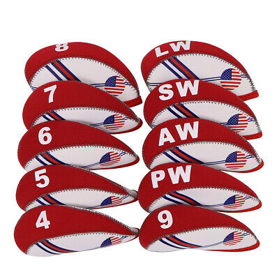 11pcs White Set Golf Iron Headcovers 4#-Lw,X Covers For Taylormade Ping Mizuno