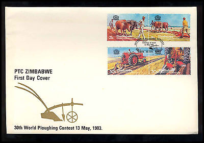 1993 Zimbabwe - 30Th World Ploughing Contest - Fdc - Cover - J20