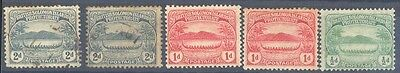 1908 Solomon Island PALM TREE CANOE MINT USED Stamp S14
