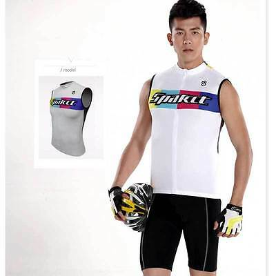Spakct Cycling Bicycle Elastic Riding Jersey Underwear Breathable Vest White