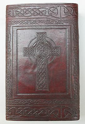 Celtic Handmade Paper Leather Embossed Journal Large Personal DiarySketchbook003