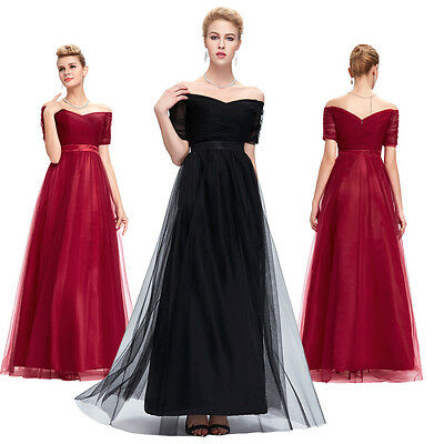 Sexy Long Dress Formal Ball Gown Party Prom Evening Bridesmaid Wedding PLUS SIZE