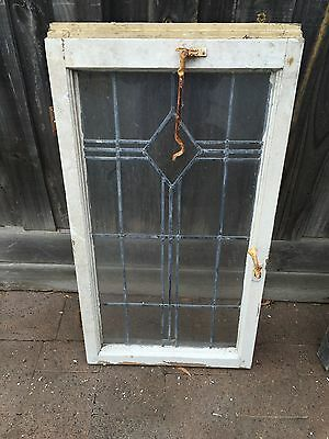 Antique Old English Leaded Stained Glass Window #6