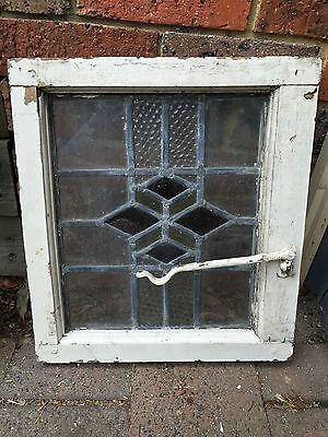 Antique Old English Leaded  Stained Glass Window #23