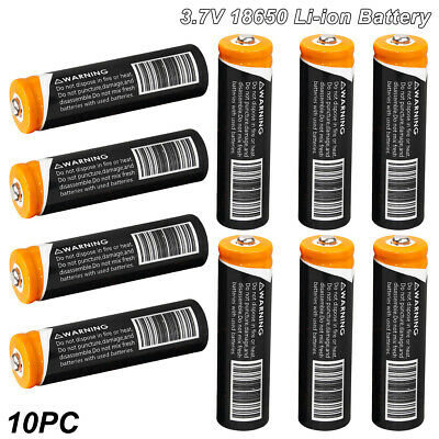 10x 18650 3.7V 3000mAh Li-ion Rechargeable Battery Cell For Torch Flashlight USA