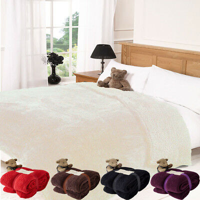 Brand New Teddy Bear Super Soft Fleece Blanket Throw for Sofa Bed Couch Size