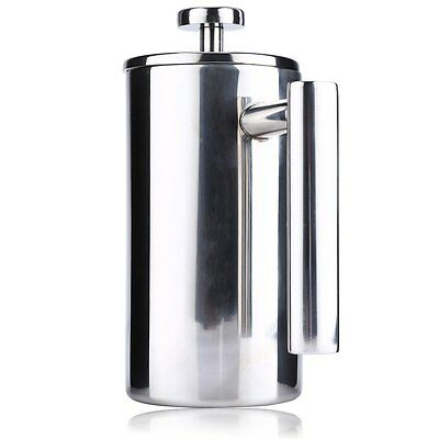 800ML French Press Coffee Maker Stainless Steel Double Wall Brushed Cafetiere