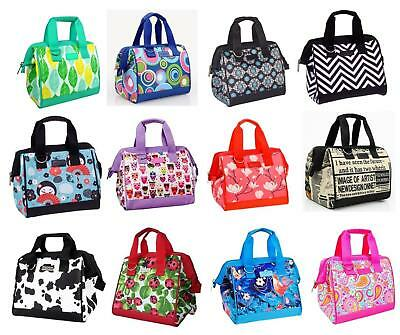 NEW SACHI INSULATED LUNCH BAG Tote Storage Container Carry Strap 20 DESIGNS
