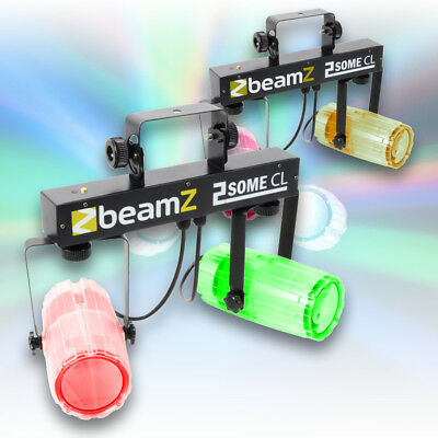 2x Beamz 2-Some Clear Bright Colour LED Party DJ Lighting Sets Sound 2 Light
