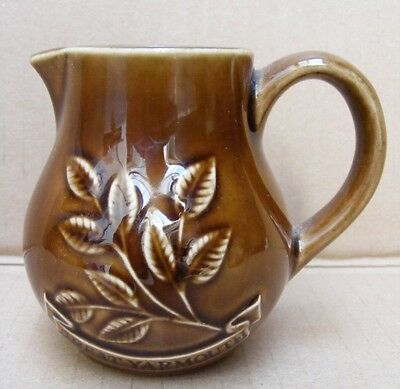 Holkham Pottery N40 Jug With 'great Yarmouth' Banner