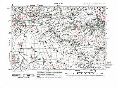 old map Yorkshire 1933: 265SE repro Stainforth Bramwith Hatfield N