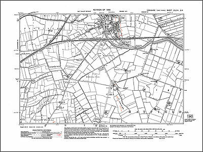 Thorne south, old map Yorkshire 1930: 266SW repro
