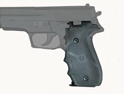 New Hogue Grips for Sig Sauer P226 26000 Molded Black Rubber with Finger Grooves