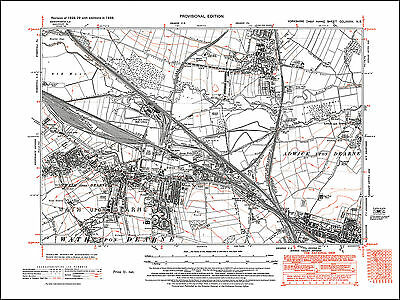 a Bolton Woods Gaisby Yorkshire old map repro 201-16-1934