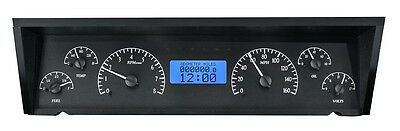 1977-90 Chevrolet Caprice Dakota Digital Black Alloy & Blue VHX Gauge Dash Kit