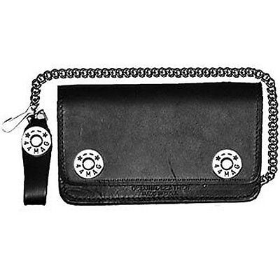 Biker Wallet Magnum 44,Leather bike wallet with chain and coin compartment