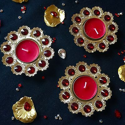 Set Of 4* Mehndi Decoration Tea Light Candles Holders- Indian Wedding Accessory