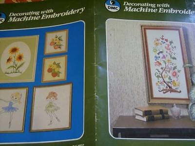 DMC Decorating With Machine Embroidery Book- Jacobean & 10 Other Projects