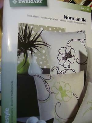 Zweigart Normandie Freestyle Embroidery Book #196 NEW Butterflies Leaves Flowers