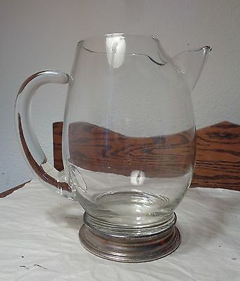 MID CENTURY Modern MARTINI PITCHER with WATSON STERLING SILVER FOOT