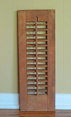 "1 Panel Old Shabby Window Wood Louver Shutters 20"" x 7"""