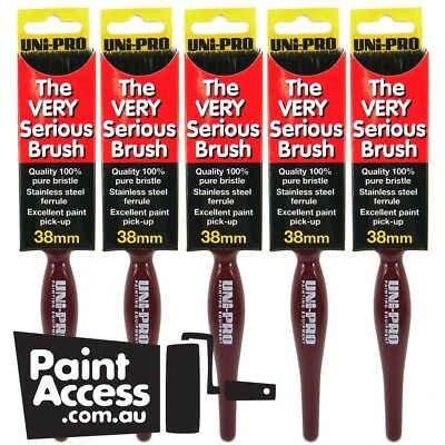 """Paint brushes/ Pack of 5 Uni-Pro Paint Brushes """"The Very Serious"""" Brushes, 38 mm"""