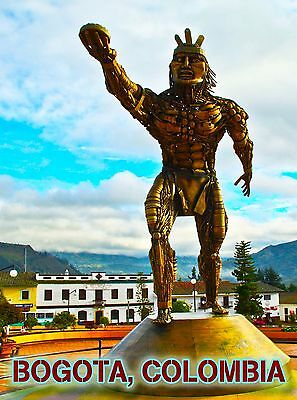 Bogota Colombia South America Statue Travel Advertisement Art Poster