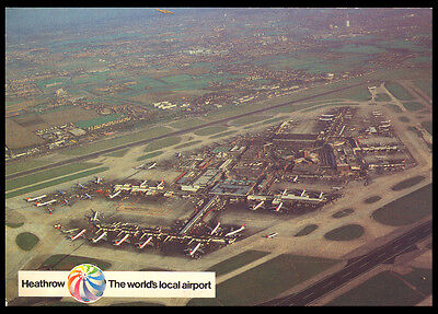 Great Britain - Heathrow - The Worlds Local Airport - Postcard - J5