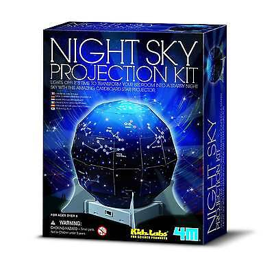 4M KidzLabs Create A Night Sky Projection Kit Bedroom Light Science Experiment T