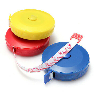 """Retractable 60"""" 1.5M Mini Sewing Tailor Cloth Soft Flat Tape Body Measure Ruler"""