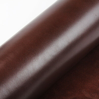 Full Grain Vegetable Tanned Oil Leather Cowhide Leather for leathercraft Brown