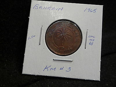 KINGDOM of BAHRAIN:   1965     10  FILS  COIN     ( UNC.)   (#742)   KM # 3