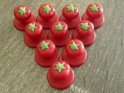 Chef Jacket Buttons, Tomato, Red, 30 Buttons