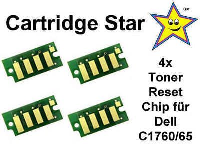 Set 4x Toner Reset Chip für Dell C1760 C1765