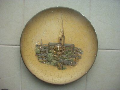 Large Vintage 3D Plaster / Chalk Wall Plaque / Plate ~Norwich Cathedral