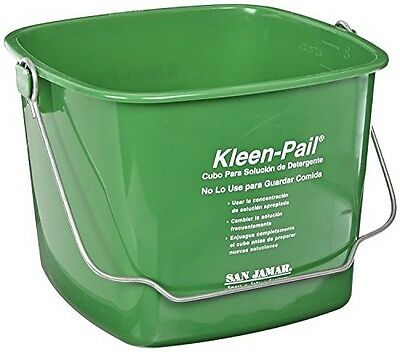San Jamar KP256GN Kleen-Pail 8 Quart Green Case of 12