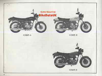 Honda CJ250T CJ360T 1976-on Illustrated Parts List Catalogue Book CJ 250 360 T