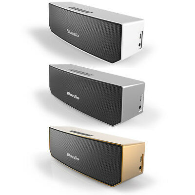 BLUEDIO BS-3 Wireless Stereo Bluetooth V4.1 Speakers Portable Woofer 3D Soundbar